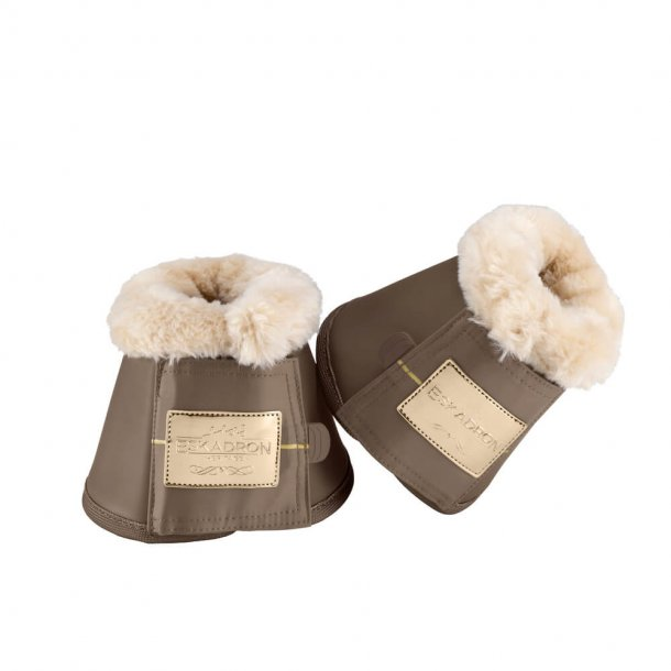 Bell Boots Faux Fur - Deeptaupe